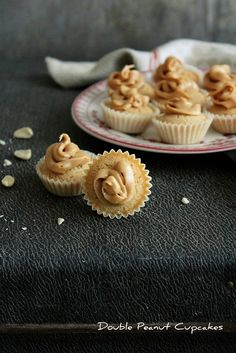 Double Peanut Cupcakes