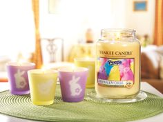 Yankee Candle Company and scented Peeps candle!  Awesome!