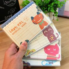4 Pcs/Lot  intage Lazy Cat series Account Book/PP Cover mini pocket notebook/diary