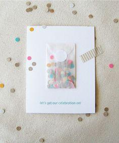 Wax paper confetti pouches