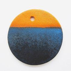 Deep indigo on terracotta. #anchorglazes #terracottaisthenewblack  Textured Indigo | Cone 05 Ox.  Kaolin 40 Borax 40 Silica 20 + Copper Carbonate 4 + Cobalt Carbonate 4