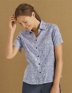 Short-Sleeved Floral Camp Shirt