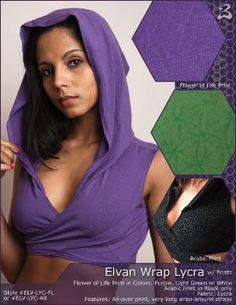 Elvan Wrap Lycra - with prints [ELV-LYC-FL\ AR] - $58.00 : Buddhaful, Unique and Unusual Clothing