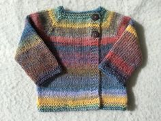 hand knit baby sweater by toniandteds on Etsy