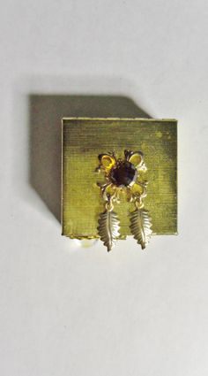 Gold Tone Metal Box by Spiritracer on Etsy, $10.00