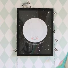 Poster-I love you to the moon and back  A3 formaat