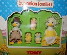 Sylvanian Families Vintage RARE TOMY Puddleford Duck Family