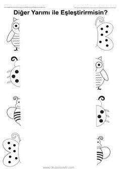 Bütün Tam Yarım Kavramı, complete and half worksheets free printables Preschool Education, Preschool Learning Activities, Free Preschool, Preschool Lessons, Shapes Worksheet Kindergarten, Printable Preschool Worksheets, English Worksheets For Kids, Free Printables, Comprehension