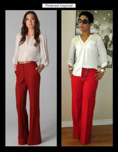 45c156d1a Red Trousers at the Office