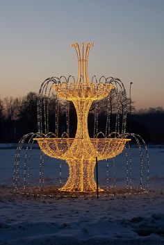 """If a fountain could say,""""Happy New Year""""..."""