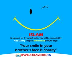 Smiling in your brother's face is charity http://r-islam.com/en/
