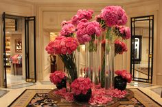 The flowers are always beautiful at the Hotel George V in Paris
