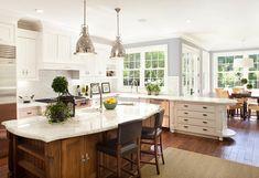 Beautiful Dutch Colonial Home : Exquisite Kitchen White Cupboard Dutch Colonial Home Interior
