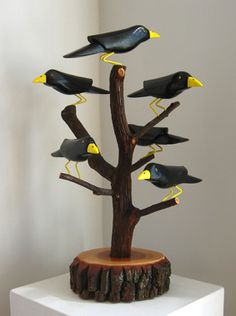 Crow Family Tree_carved and painted wood_10.08