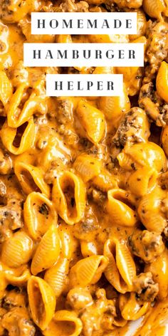 Beef Recipes For Dinner, Easy Pasta Recipes, Recipe Pasta, Easy Meals, Cooking Recipes, Pasta With Hamburger, Ground Hamburger Recipes, Hamburger Recipes For Dinner, Supper Ideas With Hamburger