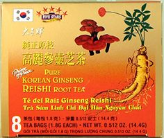 Prince of Peace Pure Korean Ginseng Reishi Root Tea 8 Bags 18g ea net wt 144g ** Learn more by visiting the image link.