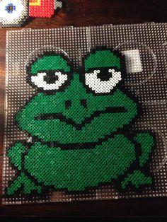 Frog hama perler beads by Dorte Marker