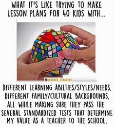 So true. I dont quite have 40 kids but still feel the pressure of testing and assessment even with my special needs kids