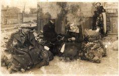 Lodz, Poland, People awaiting their deportation to the ghetto.