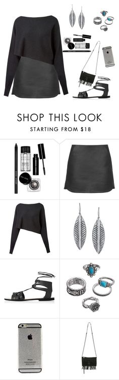 """Sem título #23"" by rebekka-sa ❤ liked on Polyvore featuring Bobbi Brown Cosmetics, Topshop, Crea Concept, 1928, Mudd and Rebecca Minkoff"