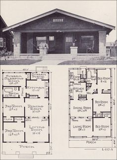 bungalow house plans 1922 little bungalows by e w stillwell - Bungalow Floor Plans
