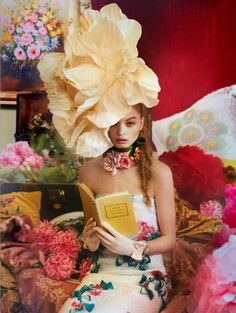 love the over the top paper flower and all the patterns and colors  Fashion Photography by Ruven Afanador