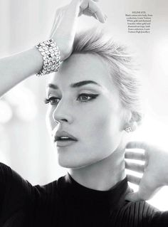 "Kate Winslet photographed by Alex Lubomirski for the ""Kate Rock 'n' Roll"" editorial in Harper's Bazaar UK, April 2013."