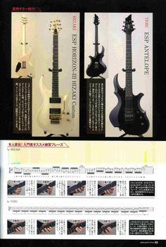 Hizaki and Teru's guitars