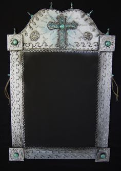 Mexican Cross Chalkboard--- Lightweight Great for the Kitchen--- Punch up your Mexican Decor--- Art and Function. $98.00, via Etsy.