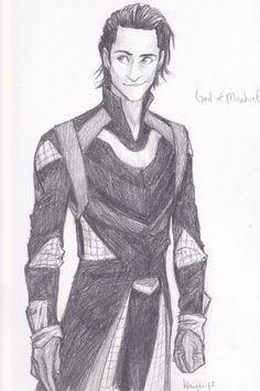 Loki sketch, Disney Prince Loki? I think Yes!