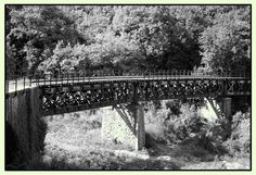 """The iron bridge, an amazing engineering work of the old railway """"Lagonegro - Spezzano Albanese"""", located nearby the upper area cemetery."""