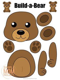 Forest Animal Crafts, Animal Crafts For Kids, Forest Animals, Woodland Animals, Woodland Forest, Bear Crafts Preschool, Toddler Crafts, Preschool Activities, Teddy Bear Crafts