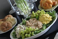 trio of creamy {spring} salads: deviled ham salad, truffled egg salad ...