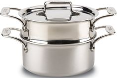 All-Clad BD55303 D5 Brushed 18/10 Stainless Steel 5-Ply Bonded Dishwasher Safe Casserole with Lid and Steamer Cookware, 3-Quart, Silver ** Click on the image for additional details.