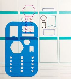 T001 - Universal Planner Stencil in Adhesive Pocket  Fits Most Planners (2.50 USD) by MioCartaPesta
