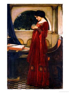 """""""The Crystal Ball"""" by John William Waterhouse"""