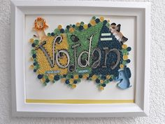 This art is made of paper and glue. This is personalized gift for kids and it is beautiful decoration for kids room Personalized Gifts For Kids, Beautiful Decoration, Quilling Art, Kids Room, Typography, Paper, Frame, Home Decor, Letterpress