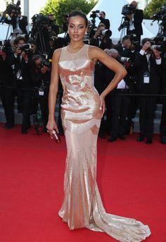 Fabulously Spotted: Selita Ebanks Wearing Gabriela Cadena - 'Two Days, One Night' 2014 Cannes Film Festival Premiere - http://www.becauseiamfabulous.com/2014/05/fabulously-spotted-selita-ebanks-wearing-gabriela-cadena-two-days-one-night-2014-cannes-film-festival-premiere/