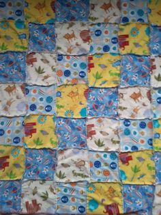 Rag Quilt | this would be a cute way to repurpose receiving blankets!