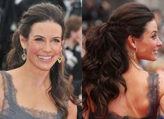 Evangeline Lilly Hair & Makeup on the Red Carpet at Cannes 2010 ...
