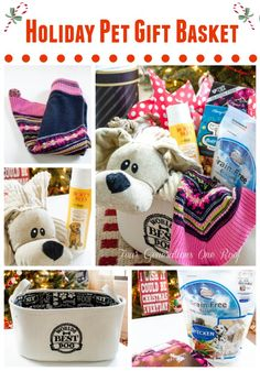 Pampered Dog Christmas Gift Basket - http://www.christmasshack.com ...