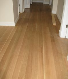 The homeowners were still in the process of finishing their rift sawn White Oak floor when they sent us this photo.