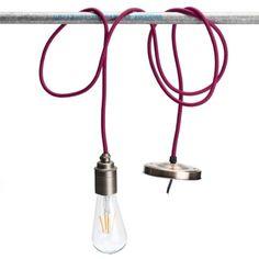 KINGSO E27 Lampenfassung Kupfer Vintage Retro Edison Pendelleuchte Hängelampe Halter DIY Lampe Zubehör mit Färbigen Kabel Zebrastreifen: Amazon.de: Beleuchtung