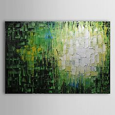 Abstract Oil Painting Hand-Painted Canvas Wall Art Other Artists One Panel Ready to Hang – USD $ 67.99