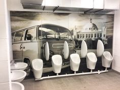 Wall art created from our Spanish City Dome photograph for the seaside toilets situated on Watts Slope as part of the Whitley Bay seafront regeneration scheme.