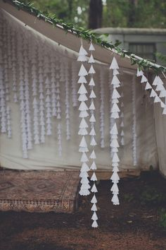 doily backdrop - photo by Terra Lange Photography http://ruffledblog.com/eclectic-washington-coast-wedding