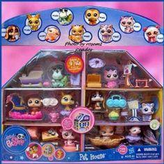 Littlest Pet Shop Exclusive Playset Pet House Includes 9 Pets Lps Littlest Pet Shop, Little Pet Shop Toys, Little Pets, Lps Houses, Lps Sets, Lps For Sale, Custom Lps, Lps Accessories, Toy Craft