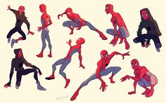 Cartoon Drawing Tips - Drawing On Demand Character Poses, Character Drawing, Comic Character, Character Design, Spiderman Poses, Spiderman Kunst, Spiderman Spiderman, Female Spiderman, Marvel Art