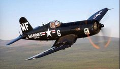 The Chance Vought Corsair was a carrier-capable fighter aircraft that saw service primarily in World War II and the Korean War. Ww2 Aircraft, Fighter Aircraft, Aircraft Carrier, Military Aircraft, Airplane Fighter, F4u Corsair, Fighter Pilot, Fighter Jets, Airplane Wallpaper