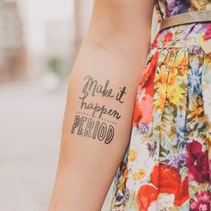 designer temporary tattoos - fun!